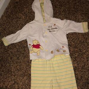 Winnie the Pooh pants and jacket